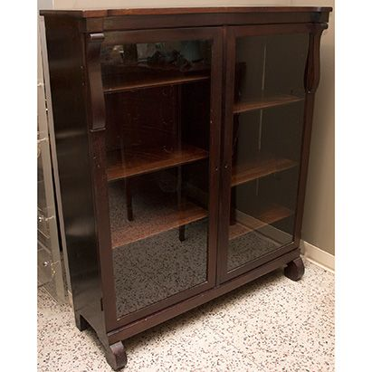 Empire Bookcase with Glass Doors - $695