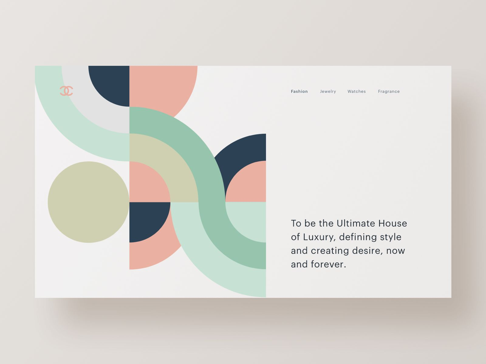 Chanel Minimal Graphic Design Branding Design Web Design