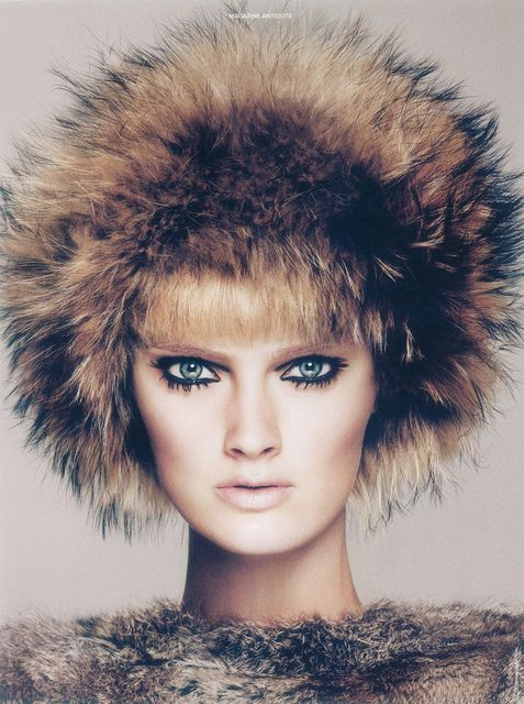 Constance Jablonski by Txema Yeste for Antidote Magazine Fall 2012, super fuzzy hair