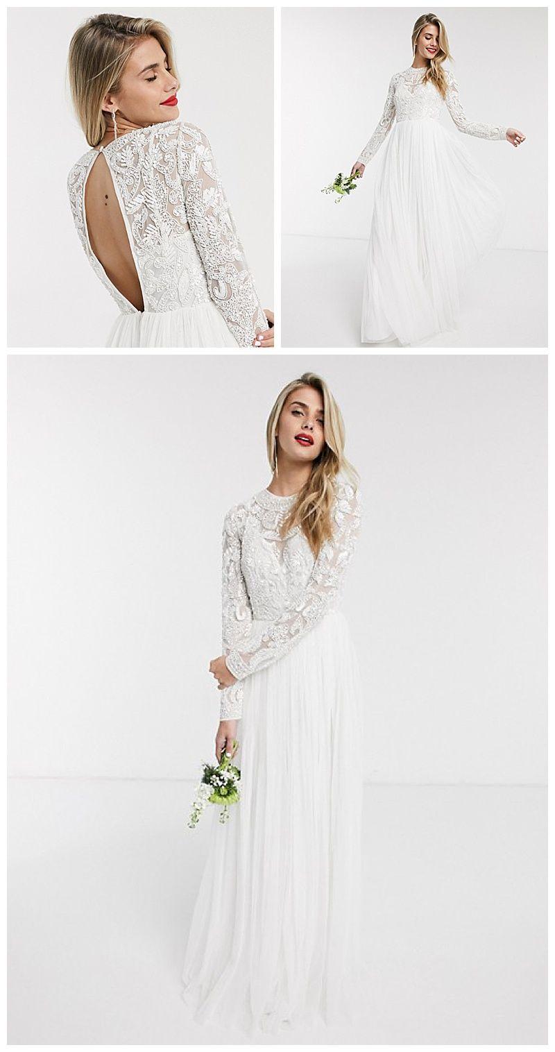 The 200 Beaded Wedding Dress Which Will Take Your Breath Away In 2020 Asos Wedding Dress Bodice Wedding Dress Wedding Dresses
