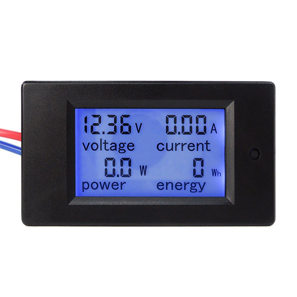 1 x 4 in 1 dc 100v 20a digital lcd combo panel meter wires not included current measuring range 0 20a display format 0 00 20 00a  [ 1000 x 1000 Pixel ]