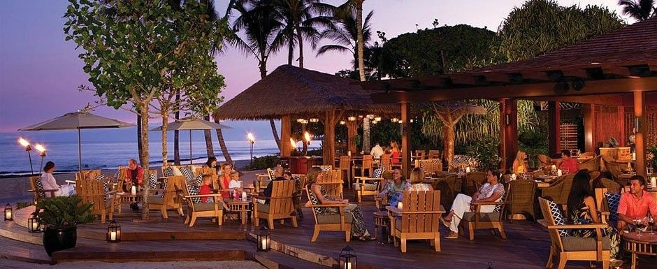 Beach Tree Restaurant At The Fourseasons Kona I Srsly Need To Try The Chilled Mango Gazpacho While Sitting Beach Side
