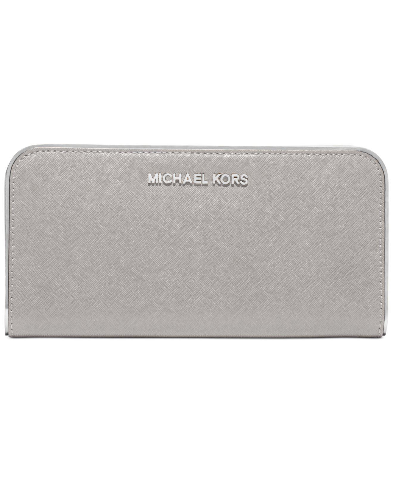 a2b440e51c50 MICHAEL Michael Kors Specchio Jet Set Travel Zip Around Continental Wallet  148 reg