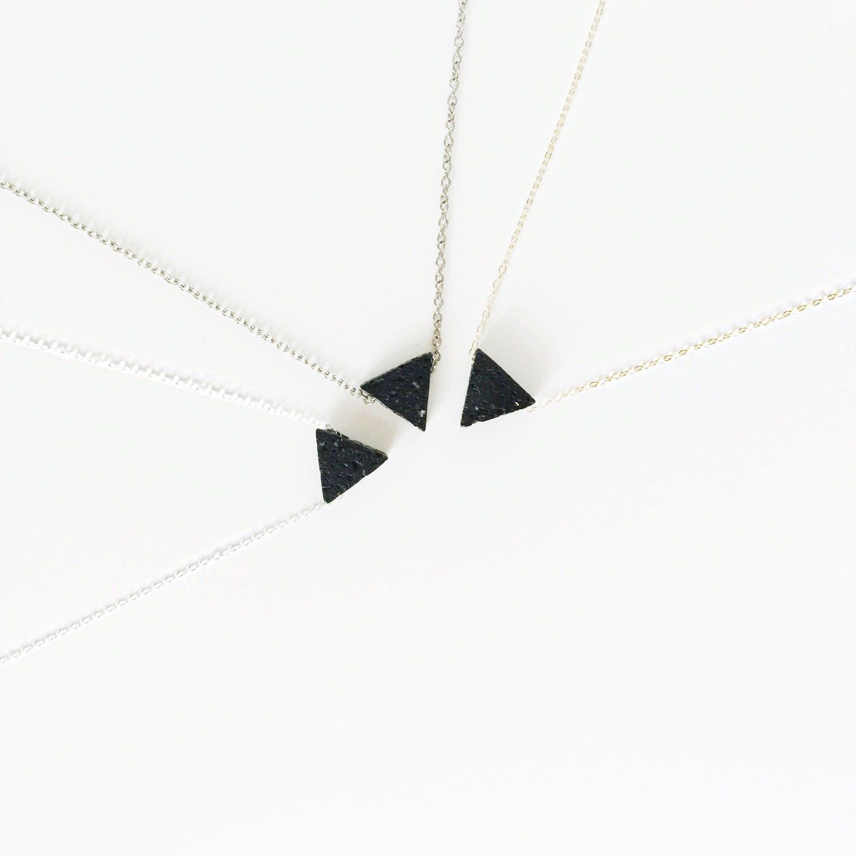 Lava Triangle • Minimalist Triangle Lava Bead Diffuser Necklace - Dainty 14K Gold Filled, Silver - Essential Oil Necklace Diffuser by LavaEssentials on Etsy https://www.etsy.com/listing/231139059/lava-triangle-minimalist-triangle-lava