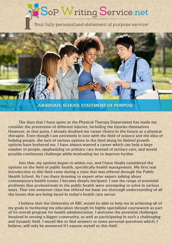 Statement of Purpose Graduate School SoP Writing Service - statement of purpose
