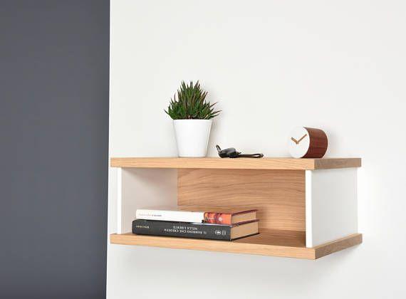Tavolino Comodino ~ Tavolino in legno di iroko e corian comodino sospeso in etsy