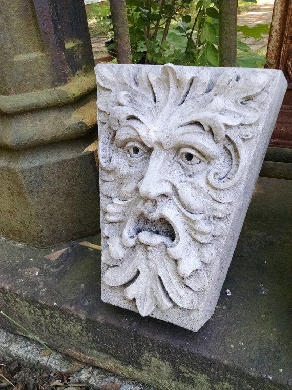 Green Man, Newbury Street, Keystone Leaf Face, Greenman, Garden Art,  Renaissance