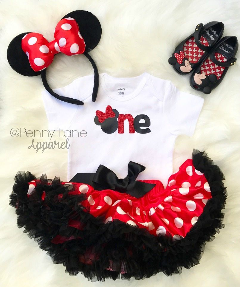 Minnie Mouse 1st birthday outfit girl Mickey Mouse outfit first birthday Minnie Mouse outfit Minnie Mouse shirt birthday outfit girl