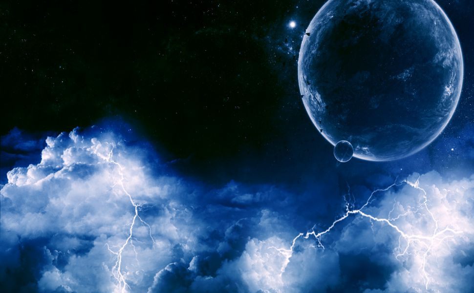 Space lightning HD Wallpaper
