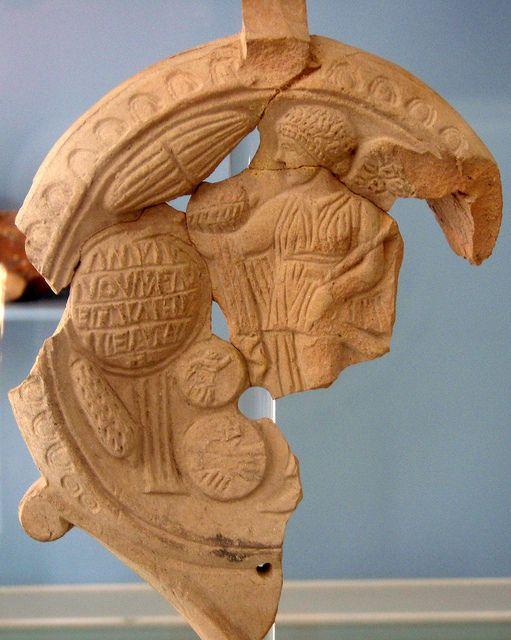 Terracotta lamp Roman  Museo di Archeologia Urbana,G Fiorelli,Lucera,Puglia