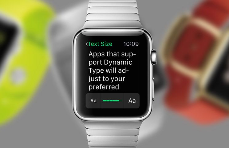 How to adjust or change text size on apple watch