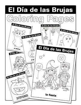 A Super Cute Set Of Halloween Coloring Pages To Celebrate El Dia De Las Brujas Noche Halloween Coloring Pages Halloween Coloring Free Halloween Coloring Pages