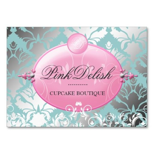 311 Pink Delish Version 2 Teal 3 5 X 2 5 Business Card Zazzle Com Bakery Business Cards Templates Cute Business Cards Bakery Business Cards