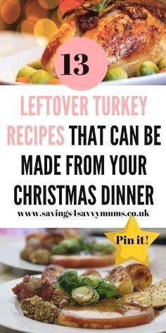 Here are 13 leftover turkey recipes that not only use up everything you have left but also all come in at under 1 a head by Laura at Savings 4 Savvy M : Here are 13 leftover turkey recipes that not only use up everything you have left but also all come in at under 1 a head by Laura at Savings 4 Savvy Mums #LeftoverRecipes #TurkeyRecipes #ChristmasDinner #Here #leftover #turkey #leftoverturkeyrecipeseasy Here are 13 leftover turkey recipes that not only use up everything you have left but also al #leftoverturkeyrecipeseasy