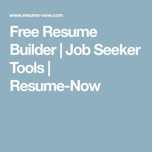 Resume-Now.com Free Resume Builder  Job Seeker Tools  Resumenow  Misc