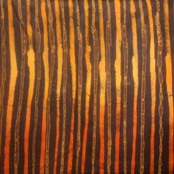 African Tie Dye Fabric Burnt Orange and Brown Lines by Urbanstax ...