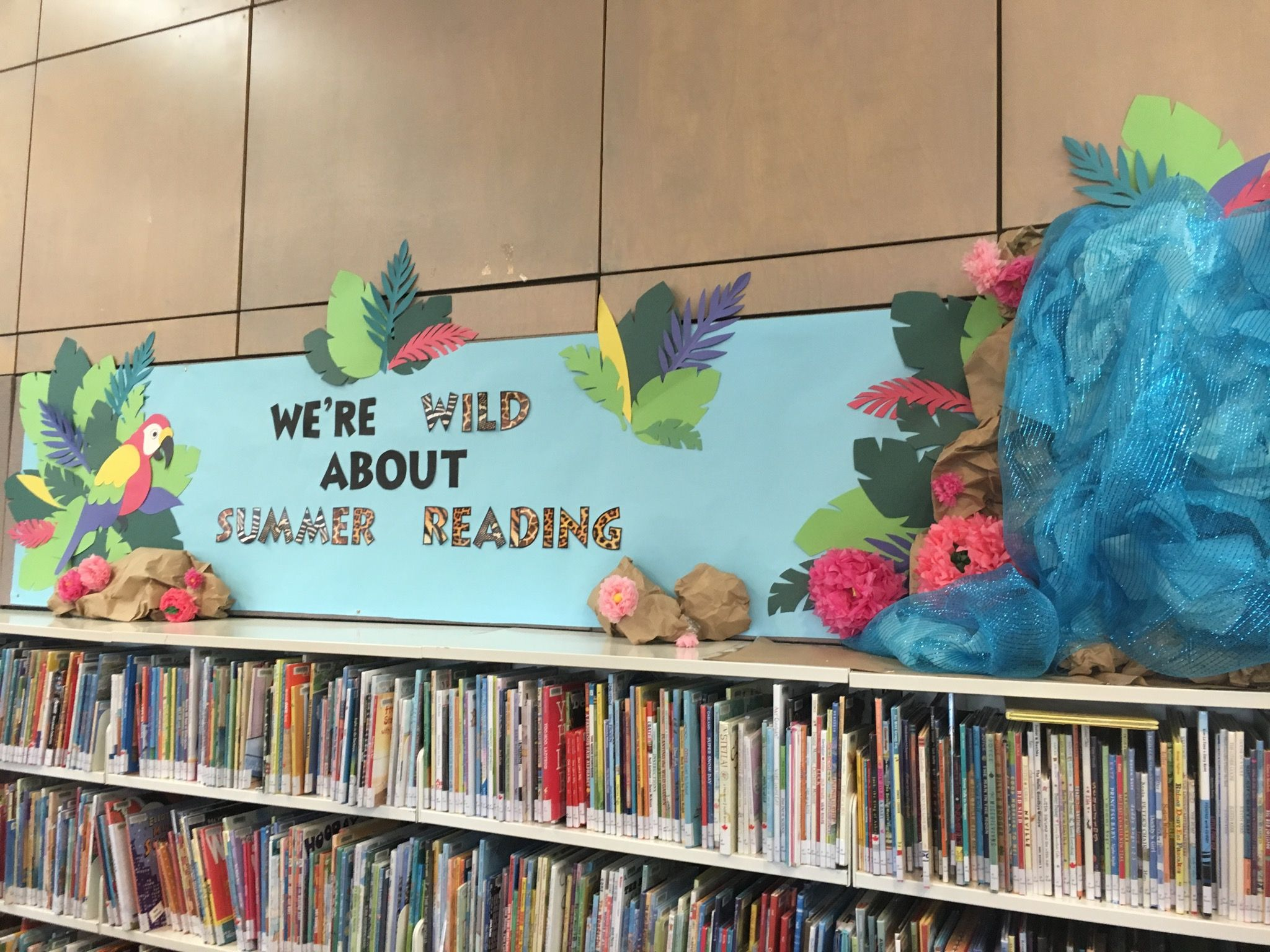 Wild about Summer Reading Jungle library display
