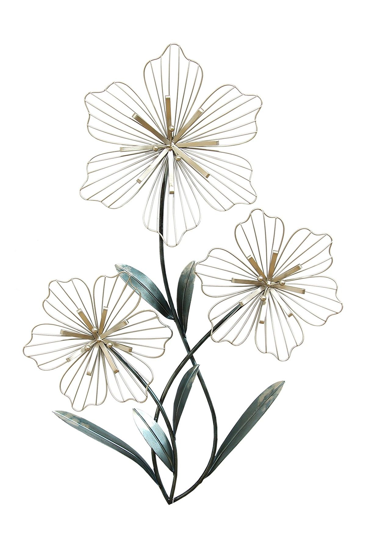 Tri Flower Wall Art