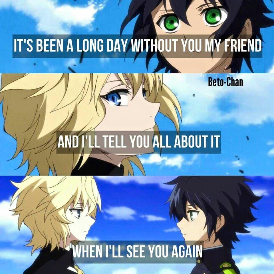 Anime Owari no seraph Quotes Seraph of the end