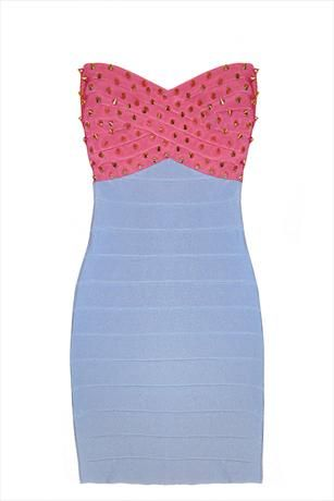 Just had to pin this Studded Contrast Bandage Dress from www.vestryonline.com/