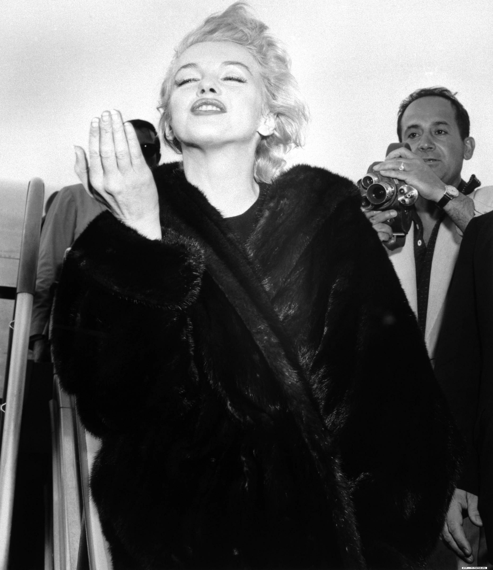 Marilyn Returning To New York After The Completion Of Bus Stop