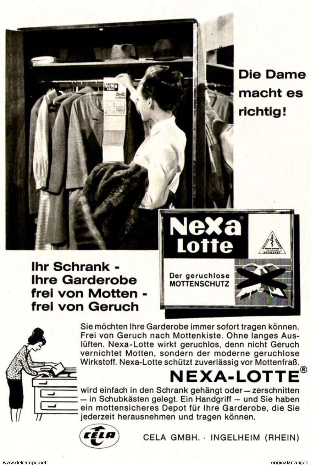 Original Werbung Anzeige 1964 Nexa Lotte Gegen Motten Ca 120 X 170 Mm Werbung Werbung Zu Verkaufen Mottenschutz