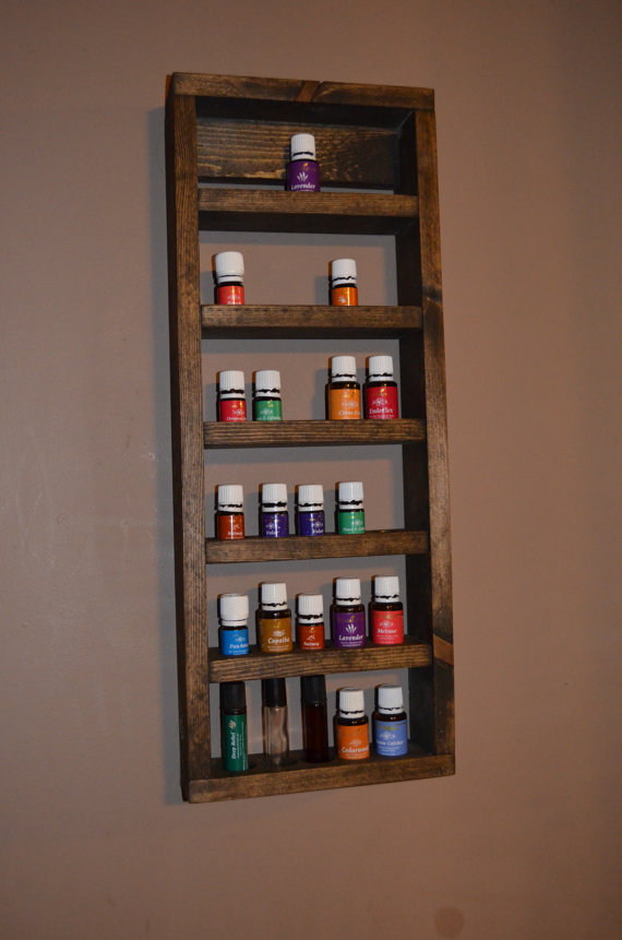 Small Essential Oil Bottle Wall Shelf Young Living Doterra
