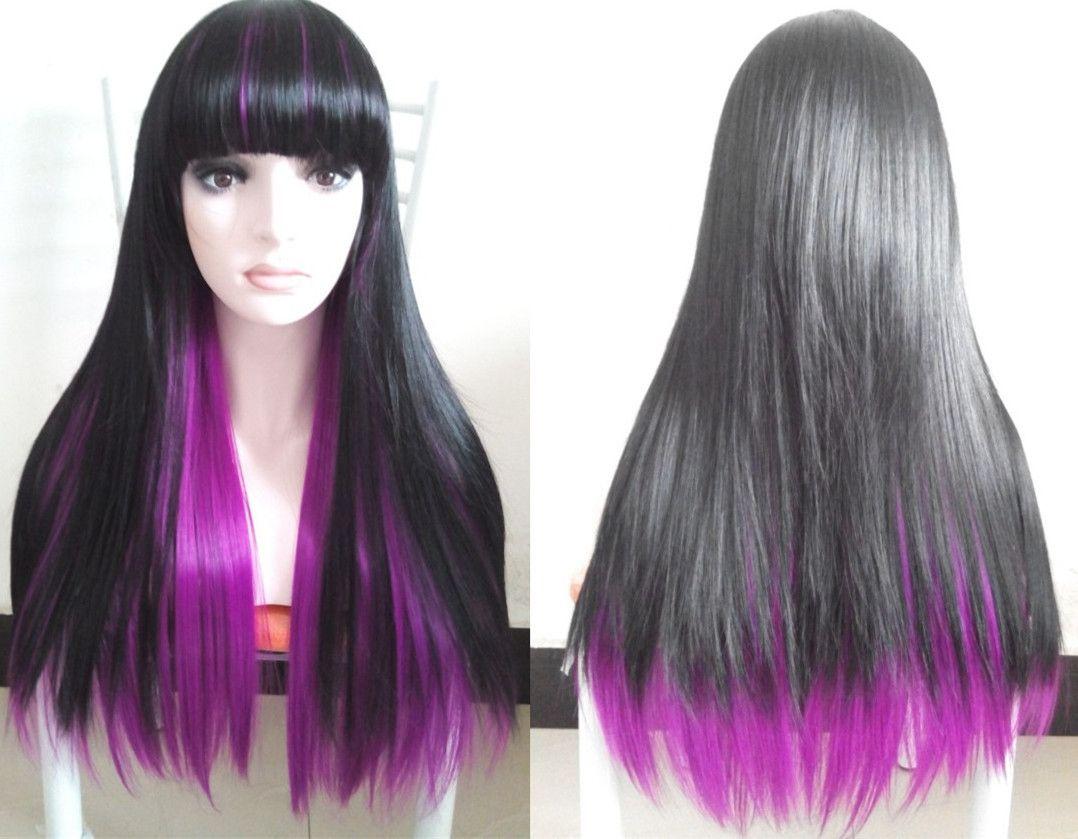 purple hair streaks in black hair wwwpixsharkcom