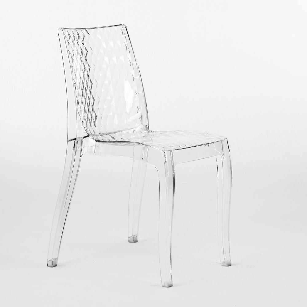 Grand Soleil HYPNOTIC Stuhl Transparent Küche Bar Polycarbonat Made In Italy
