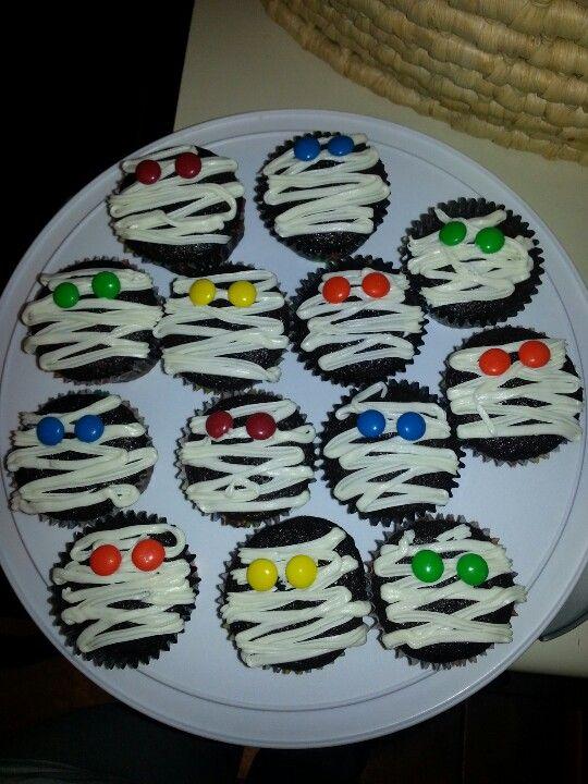 Mummy cupcakes for Amiyahs b'day