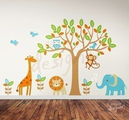 Amazing Safari Playland Nursery Wall Sticker Mural   Wall Sticker Outlet Part 27