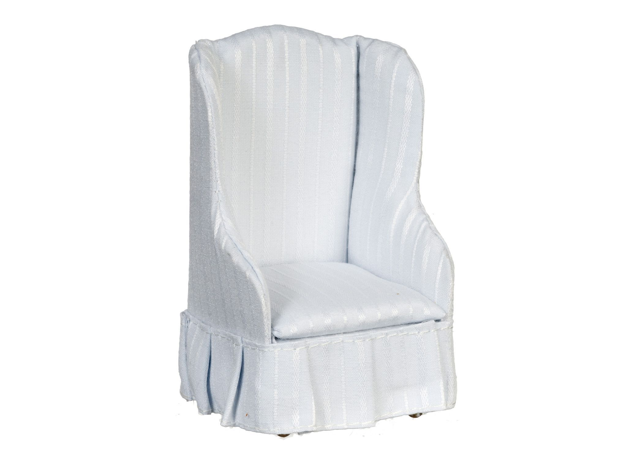Traditional Satin Chair-pale blue