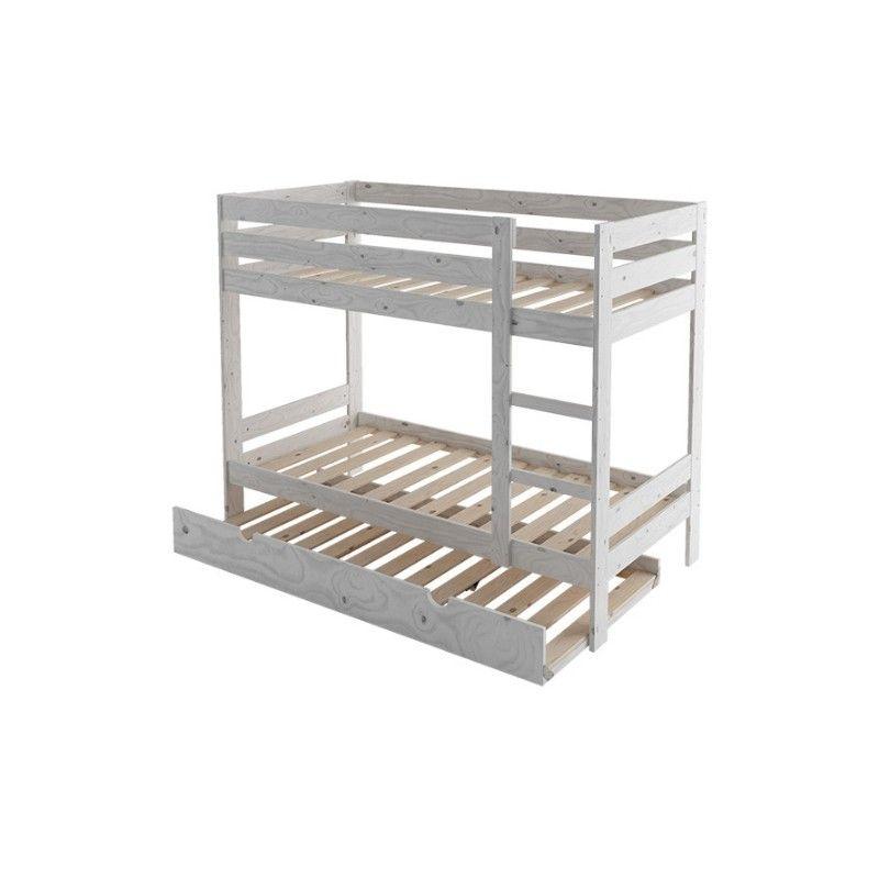 Litera cama nido dormitorio juvenil para 3 - Precios de literas para ninos ...