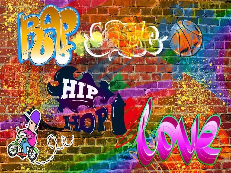 Kate Graffiti Hip Hop Backdrops Colorful Brick Wall