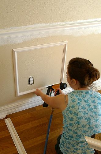 Installing Trim Center Wall Wall Dining Room Wainscoting Dining