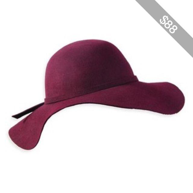 Wholesale Lady s Burgundy Wool Felt Floppy Hat  406f5dd3904