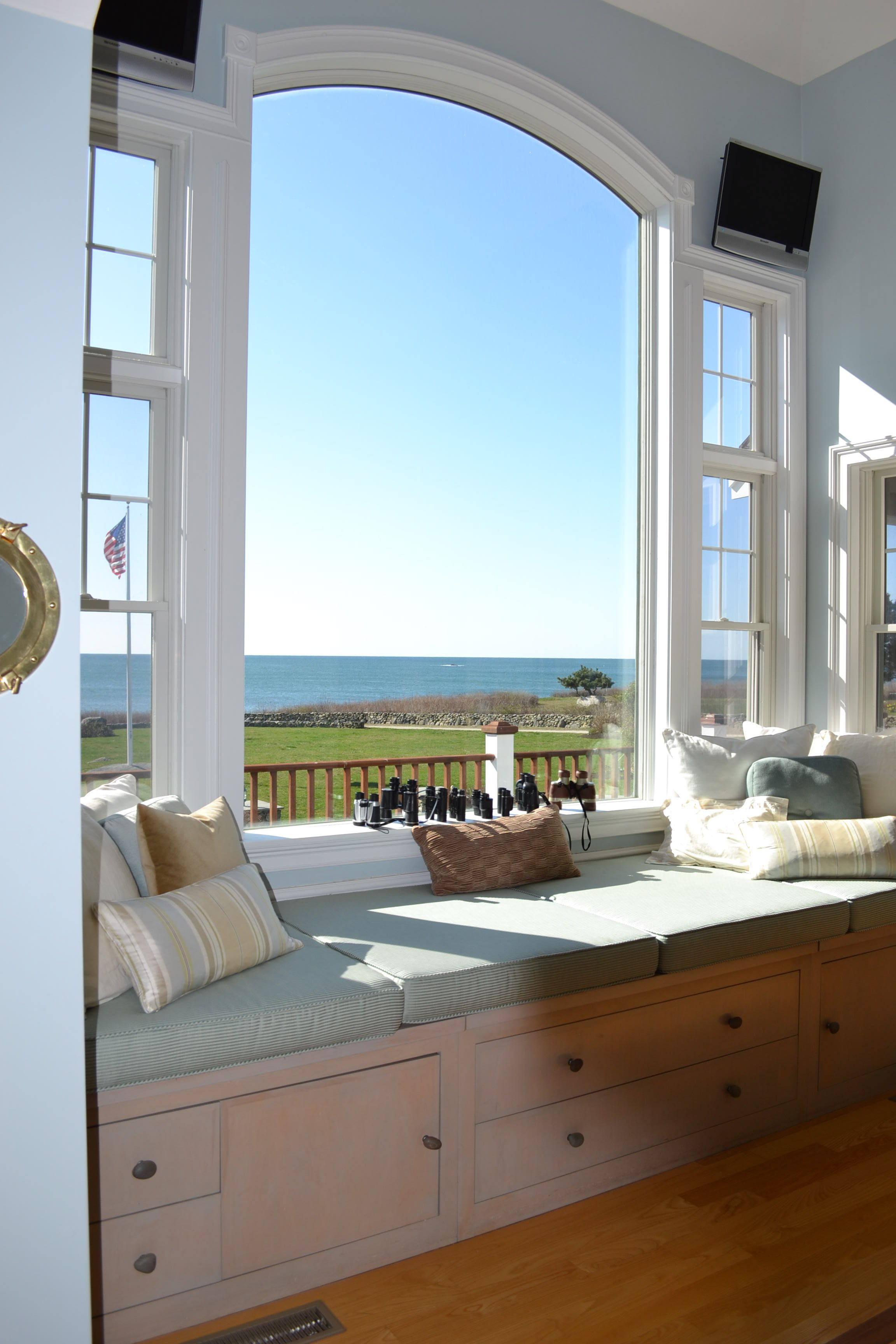 Gorgeous Window and Window Bench... 44 Beach Drive Little Compton, RI