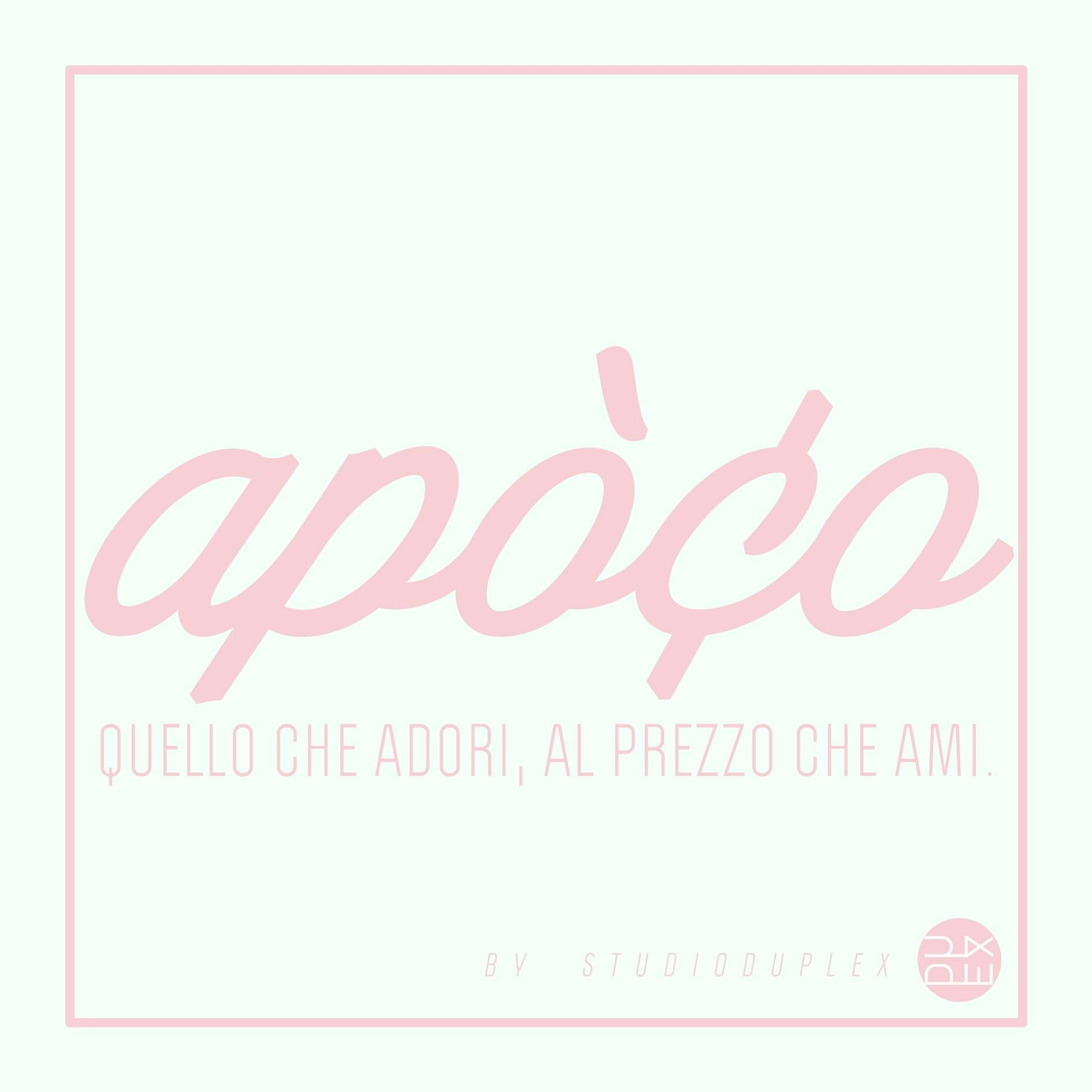 Apòco Logo in #IceMint and #Pink