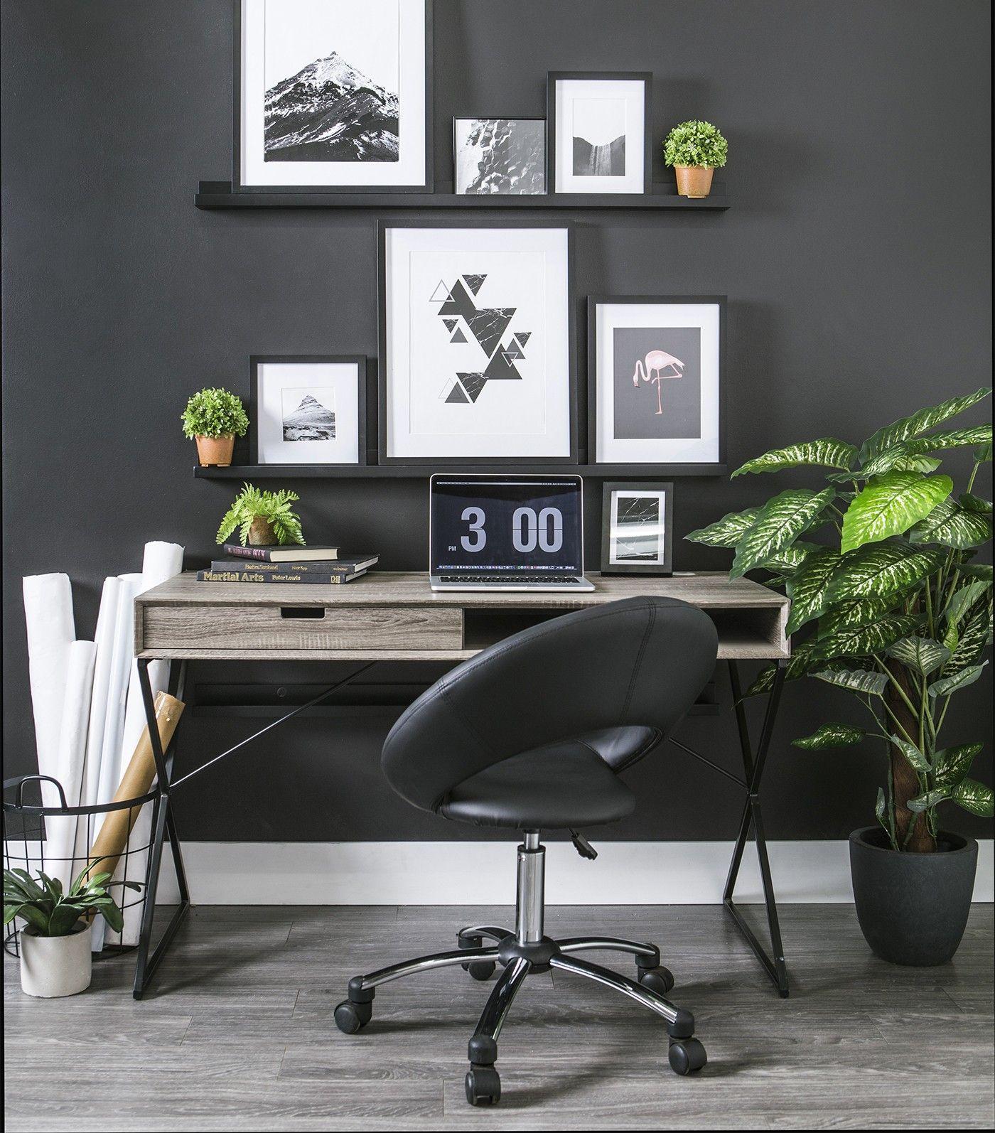 desk chair jysk cotton duck covers askim computer home office pinterest