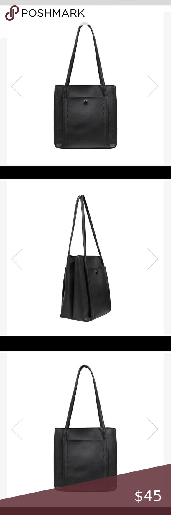 Expressions Nyc Vegan Leather Tote In 2020 Vegan Leather Tote Leather Tote Vegan Leather
