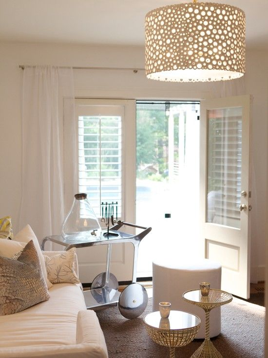 Doors Designs Contemporary Living Room Design With White French Door Blinds Also Transparent Curtains