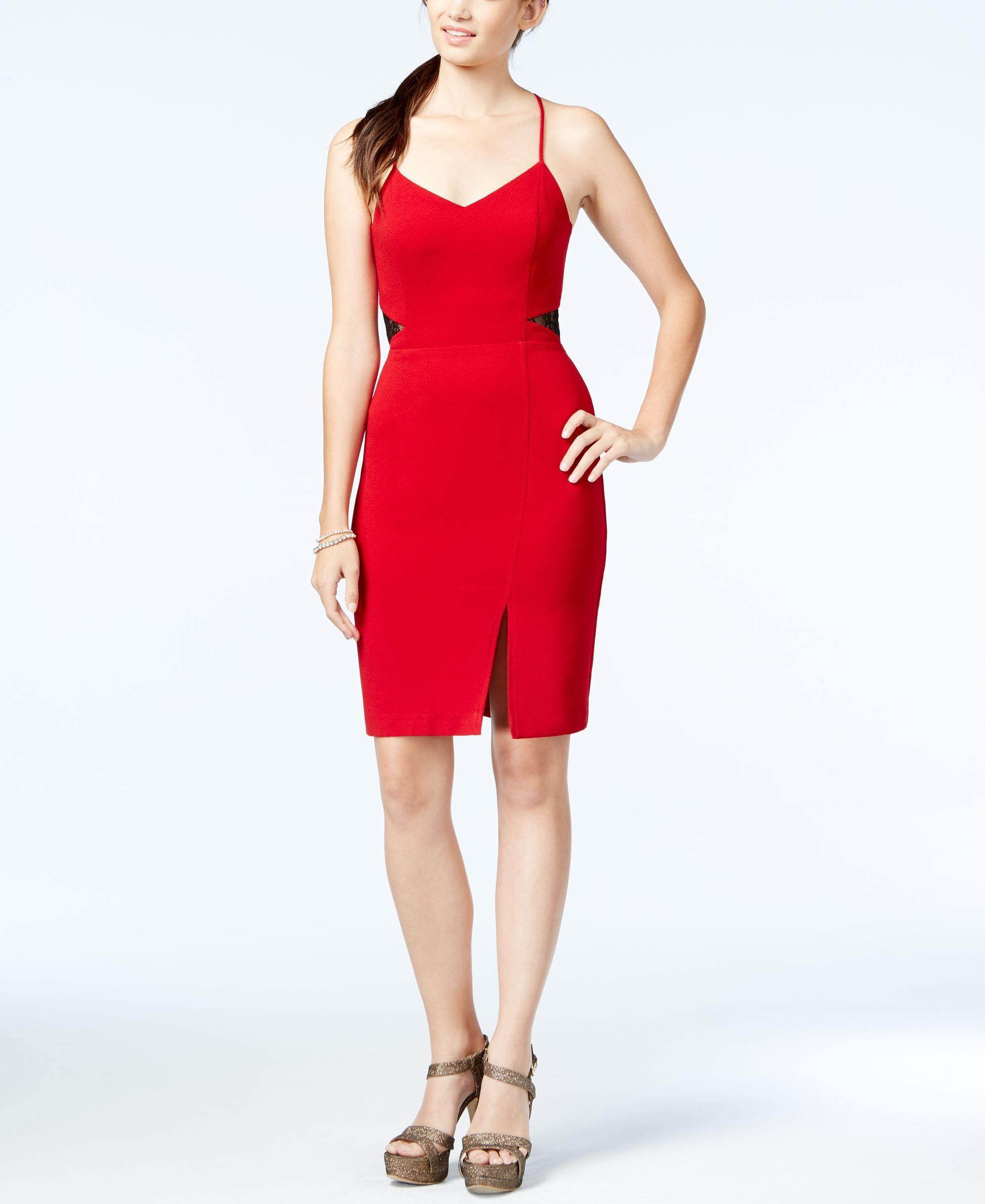 Lace dress macys  Jessica Simpson OpenBack Lace Illusion Sheath Dress  Products
