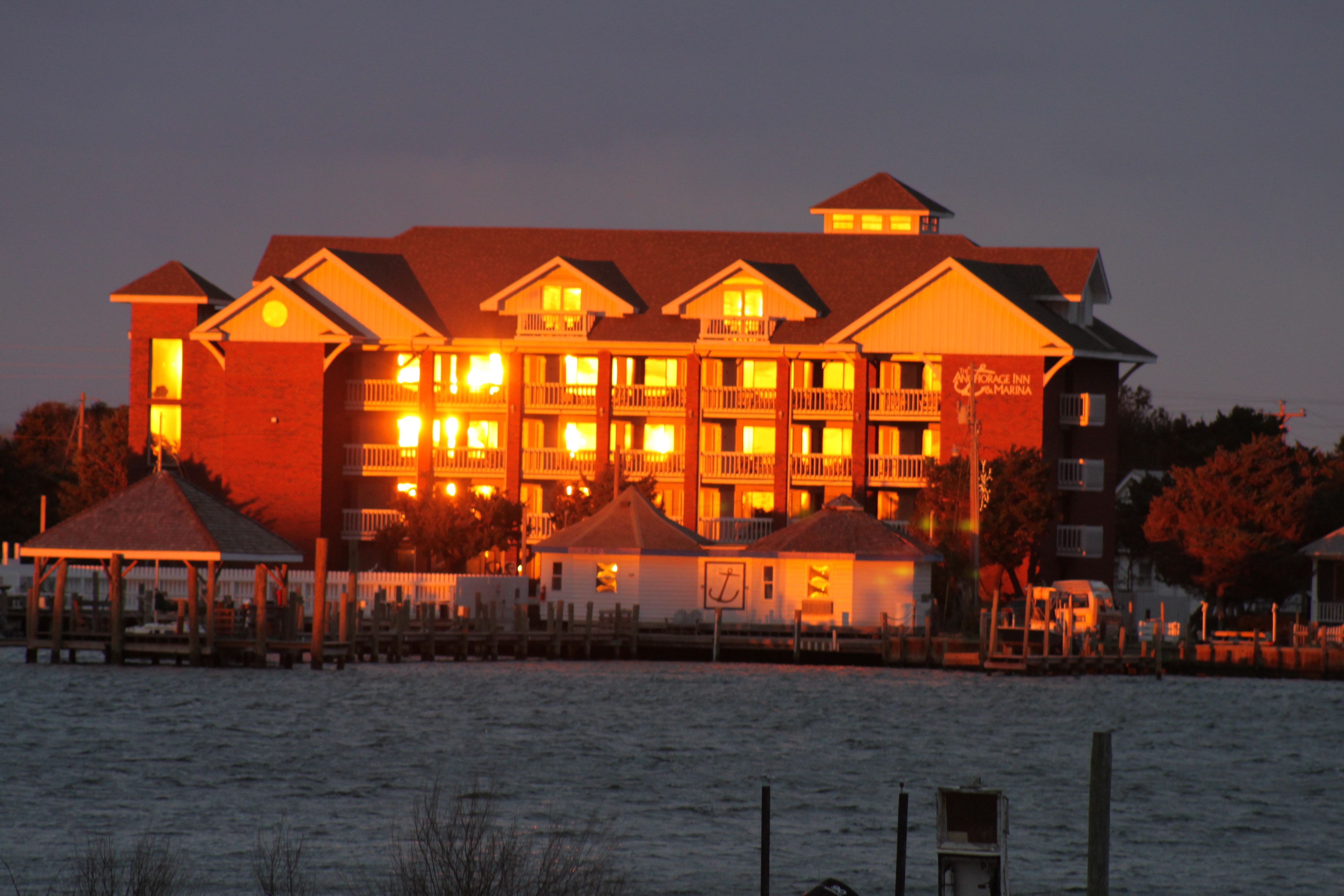 Anchorage Inn At Sunset On Silver Lake Harbor Ocracoke Island Silver Lake Ocracoke