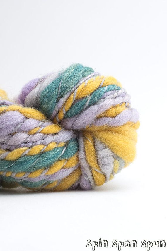Venus in Green CoilSpun BeeHive Art Yarn silk and by SpinSpanSpun, $55.00