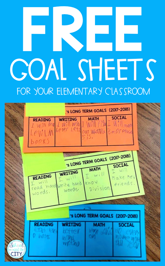 Setting Goals With Students - School and the City