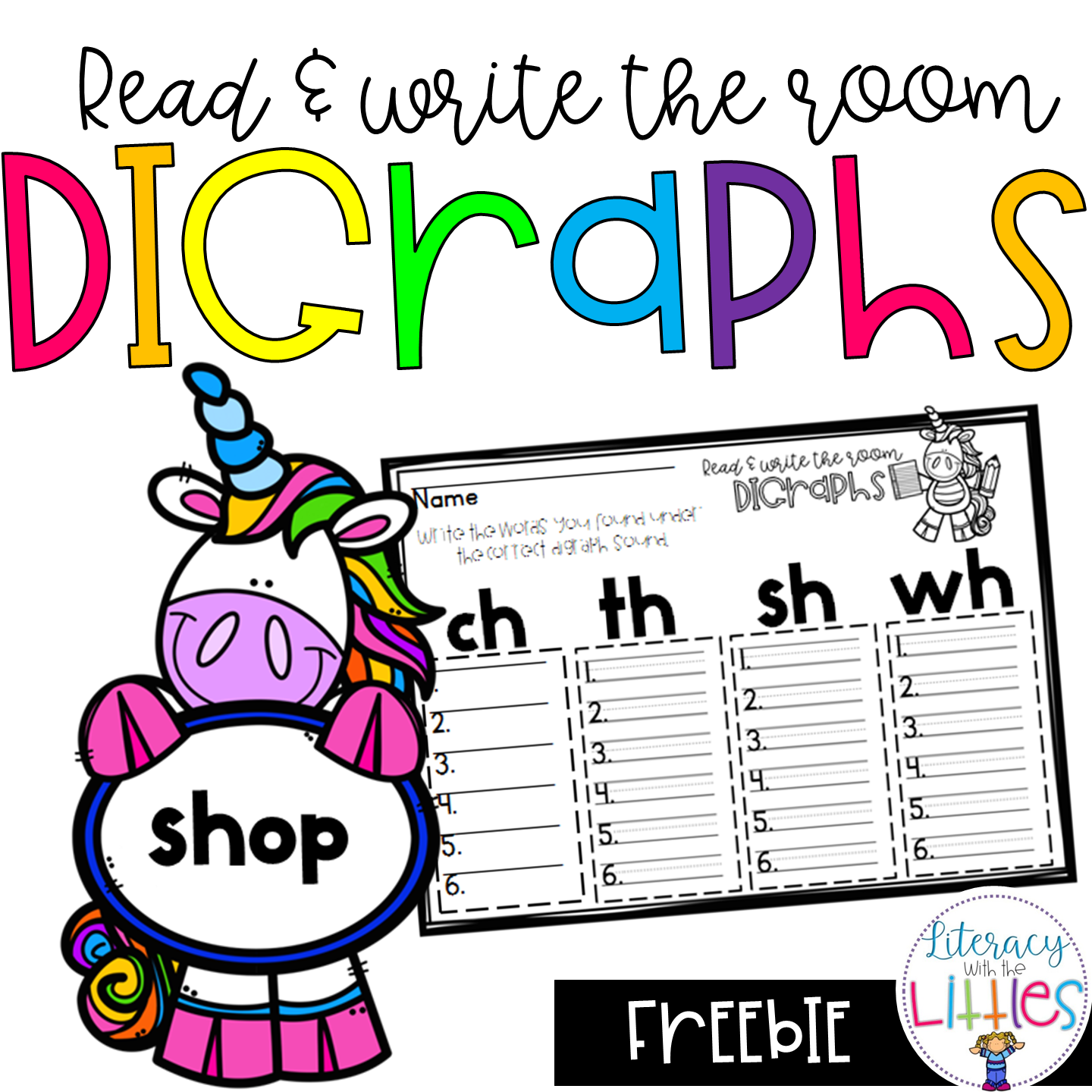 Digraphs Read And Write The Room Freebie