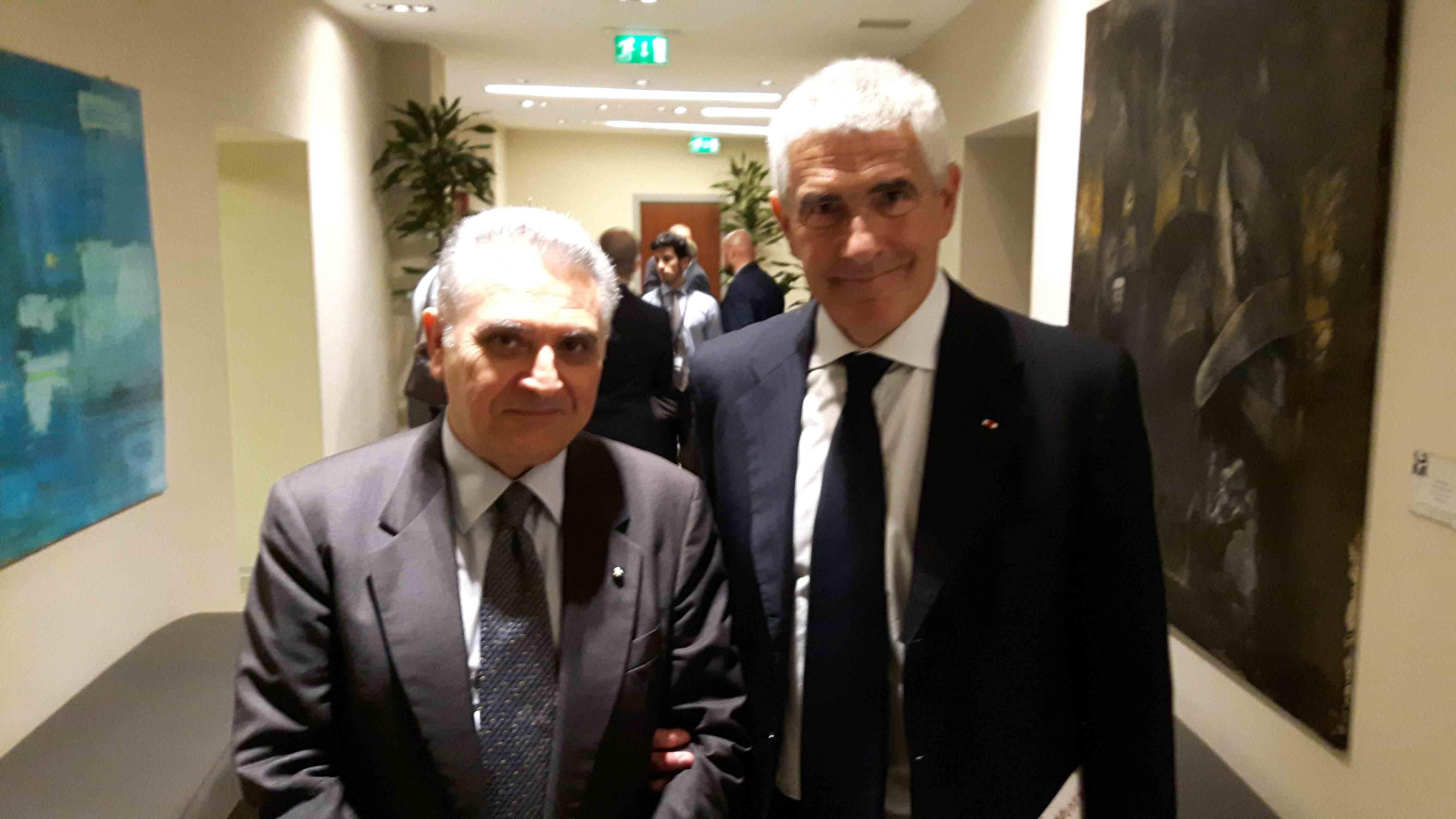 Il consigliere diplomatico raimondo villano con il sen for Commissione esteri camera