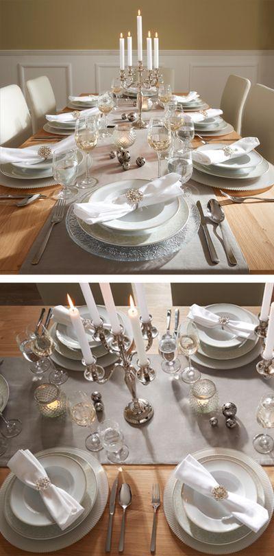 Elegantes Geschirr So wird jedes Essen zum Festmahl Tischkultur - edles geschirr besteck porzellan silber