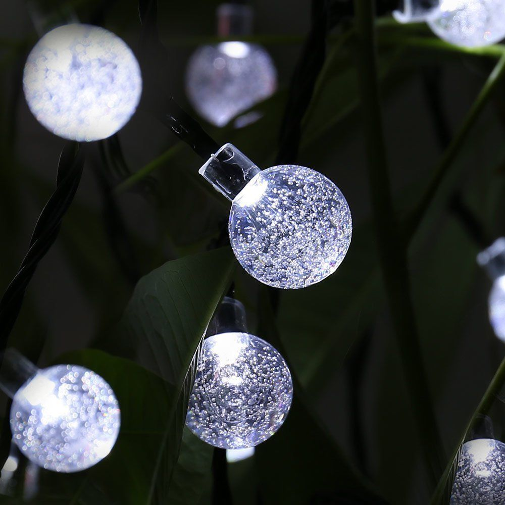 Outdoor solar globe string lights top pinterest solar and outdoor solar globe string lights aloadofball Image collections