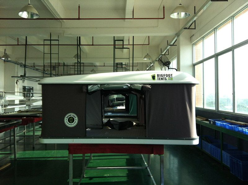 New 2014 Hard Shell Roof Top Tent white & New 2015 Hard Shell Roof Top Tent white www.bigfoottents.com ...
